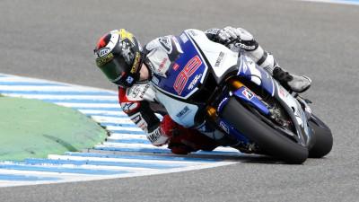 Lorenzo mantiene el liderato en Jerez