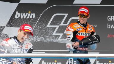 レプソル・ホンダの両雄、ストーナー&ペドロサは2戦連続の表彰台