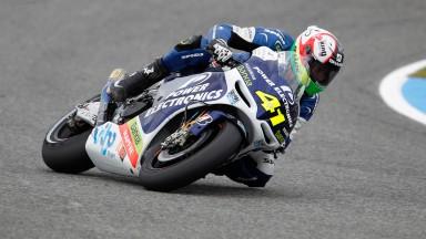 Espargaró, primer CRT en Jerez. Abandono de De Puniet