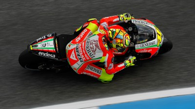 Good feelings for Valentino Rossi and Nicky Hayden on Day 1 in Portugal