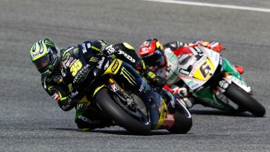 Confident Crutchlow blasts to front row in Estoril