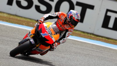 Maiden 2012 pole for Stoner with Pedrosa in second