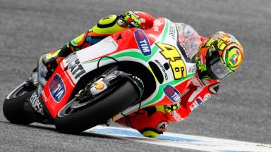 Rossi: 'C'è da migliorare in uscita di curva'