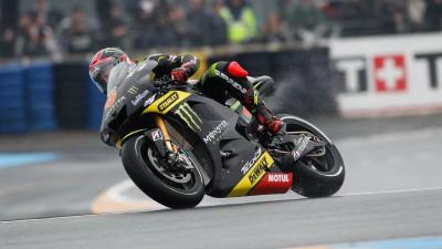 Deux chutes privent Tech3 d'un possible podium au Mans
