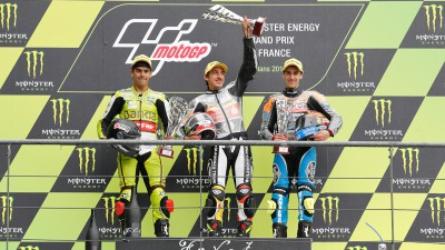 Moncayo y Rins se estrenan en el podio de Moto3™