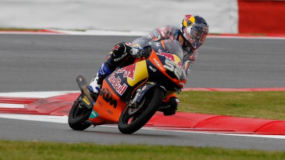 Kent leads wet first Moto3™ practice session at Silverstone
