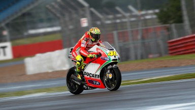 Rossi fastest in first MotoGP™ free practice at wet Silverstone