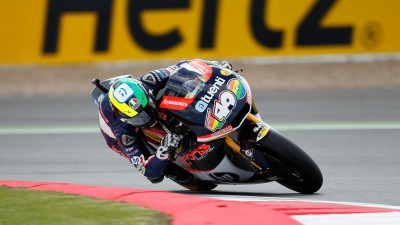 Espargaró tops the timesheets in second free practice at Silverstone