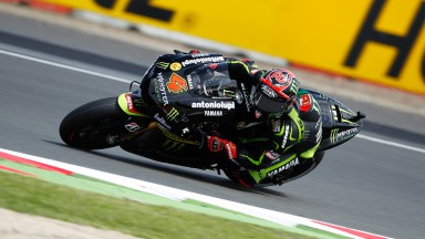 Dovizioso and Crutchlow battle mixed conditions at Silverstone