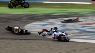 La Direction de Course pénalise Bautista suite à sa collision avec Lorenzo