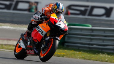 Pedrosa fastest in eventful first free practice at the Sachsenring
