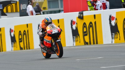 Pedrosa leads rain-hit second free practice in Germany