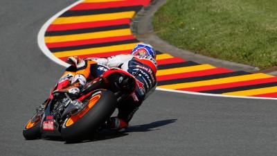 Stoner on top in sun drenched Germany warm-up