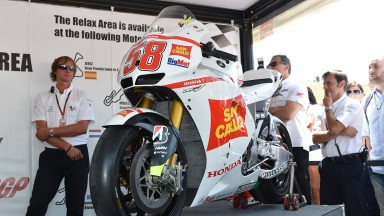 HRC presents two bikes in honour of Marco Simoncelli at Mugello