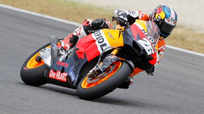 Podium for Pedrosa, difficult 8th for Stoner