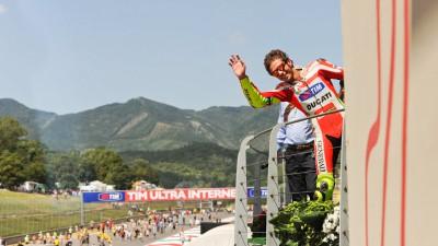 Rossi et Hayden n'étaient pas loin du podium