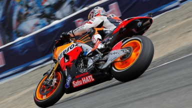 Pedrosa fastest on day one with Stoner third at Laguna Seca