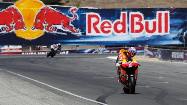 Stoner storms to victory in close-fought Laguna Seca race