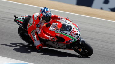 Hayden sixth at home race, crash for Rossi