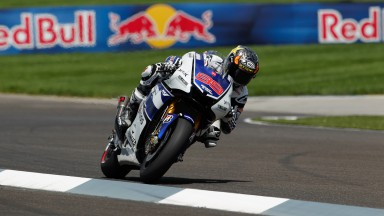 Front row for Lorenzo at Indianapolis as Spies battles to fourth