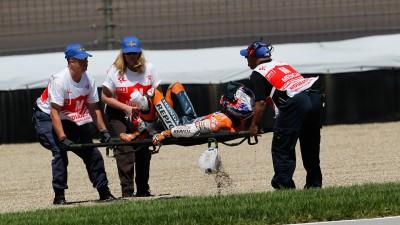 Stoner vê confirmadas fractura e ruptura de ligamentos no tornozelo direito
