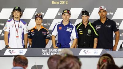 MotoGP™ riders react to Stoner withdrawal at Brno press conference