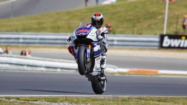 Yamaha on the pace despite crashes at Brno