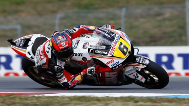 Bradl targets front row start after opening day at Brno