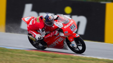 Folger fastest in wet Brno warm-up