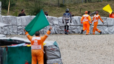 Crash misery for Spies at Czech GP