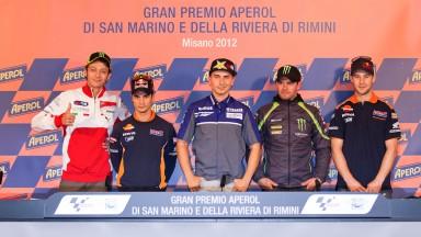 Estrelas do MotoGP™ juntam-se na conferência pré-Misano