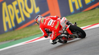 Folger heads wet final free Misano practice