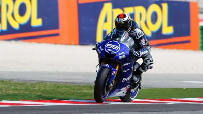 Lorenzo edged out in pole battle at Misano