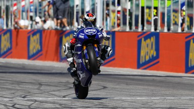 Lorenzo charges to dominant victory in dramatic Misano race