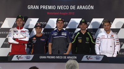 La rueda de prensa del Gran Premio Iveco de Aragón