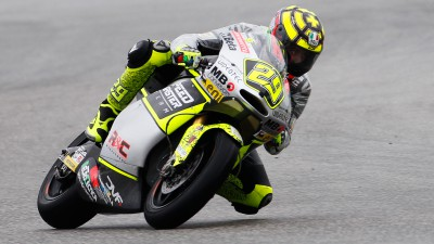 Iannone quickest at Aragón in wet first morning session
