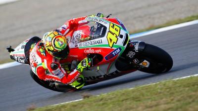 La Ducati n'a pas le même potentiel que ses rivales selon Rossi
