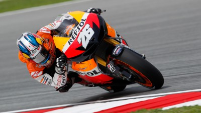 Pedrosa tops timesheets on mixed first day in Malaysia