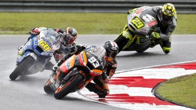 M.マルケス、転倒リタイヤもタイトル獲得まで2ポイント