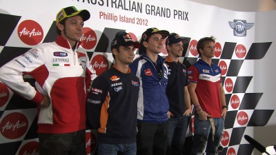 Stoner on a mission as Spanish duo do battle at Phillip Island MotoGP™