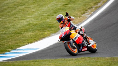 Stoner on pole as Pedrosa secures front row
