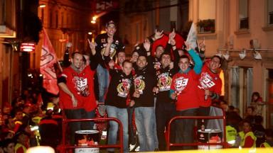 Les frères Márquez fêtent leur retour à Cervera