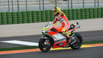 La última cabalgada en rojo de Valentino Rossi