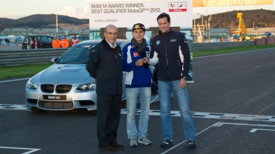 Jorge Lorenzo wins BMW M Award as best qualifier in 2012
