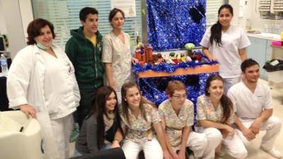 Márquez visita a niños hospitalizados en Barcelona