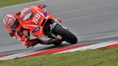 Início difícil para a Ducati na Malaysia