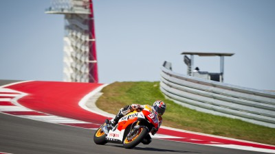Times drop as Márquez leads at halfway point in Austin