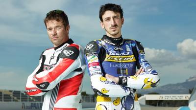 Loeb e Rossi con la Moto2