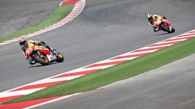 レプソル・ホンダのマルケス&ペドロサがオースティンでのテストを終了