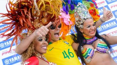 Valentino Rossi en visite au Brésil